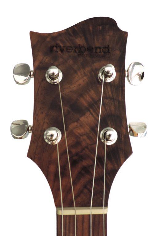 Riverbend Instruments Concert DC Tenor Walnut Electric Ukulele custom built in Central Oregon