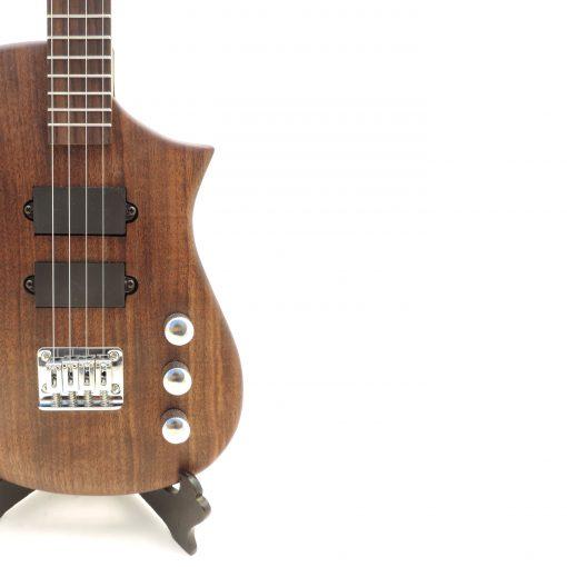 black walnut tft15 electric ukulele closeup