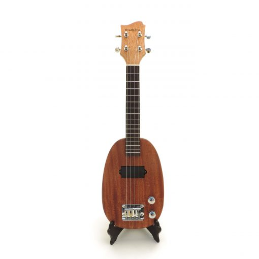 Pineapple electric ukulele front view