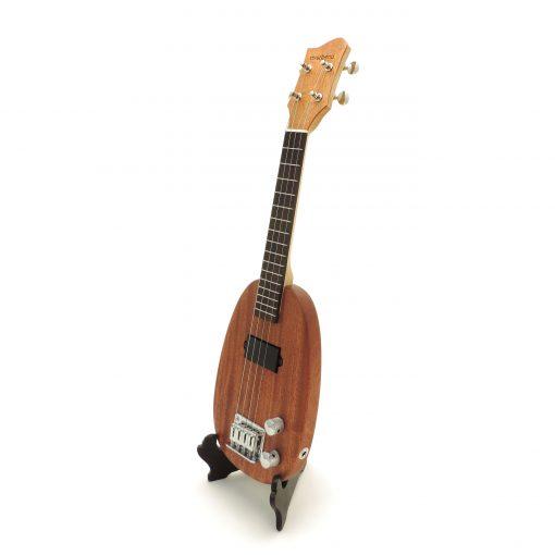 Pineapple electric ukulele left view