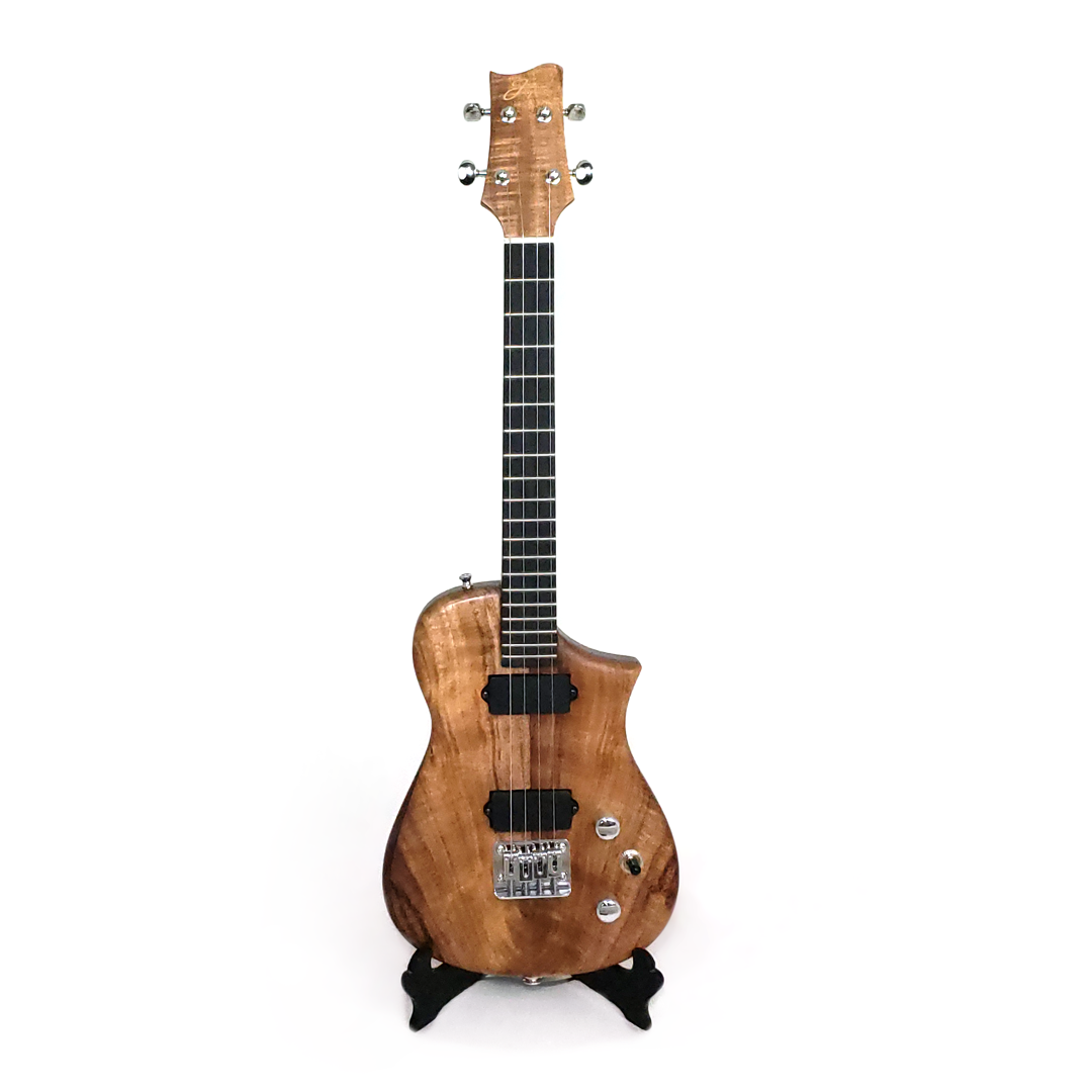 Front view of the koa tenor uke built for Blaine Dillinger