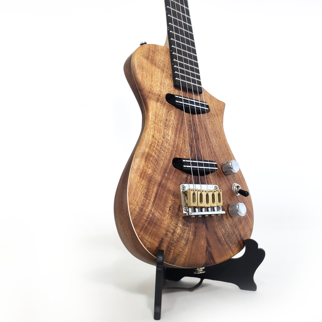 Detail view of the koa baritenor uke