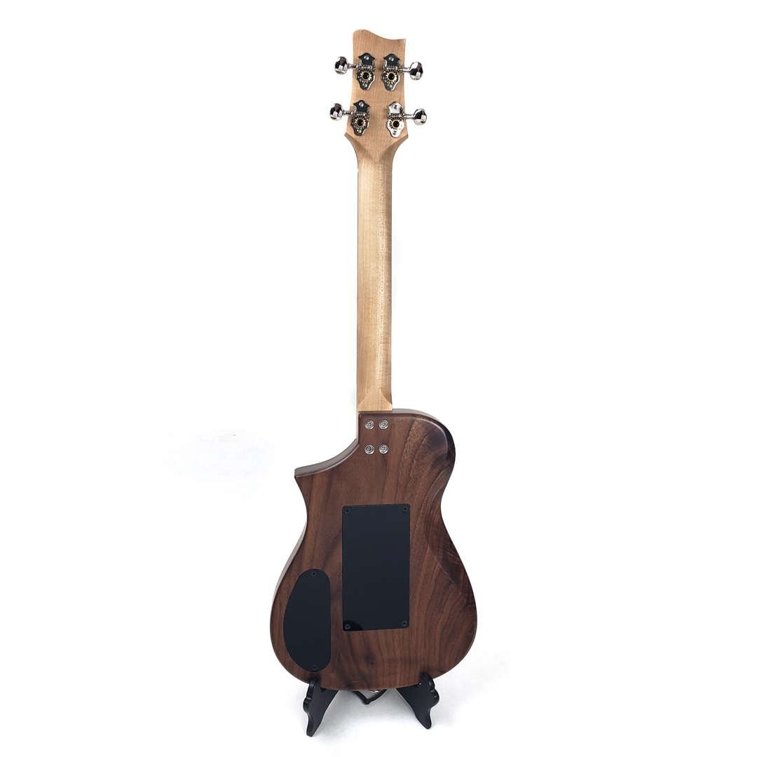 Back view of Walnut Tenor Uke