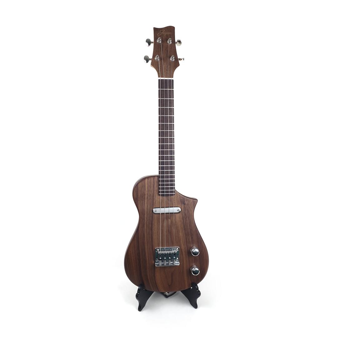 Front view concert ukulele walnut