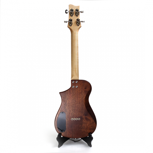 Back view of the mahogany concert ukulele