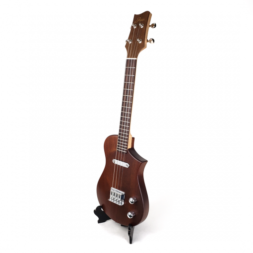 left view mahogany concert scale ukulele