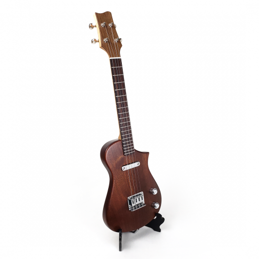 Right view mahogany concert scale ukulele