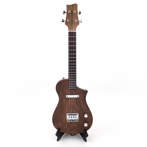 Front view of Walnut Concert Uke