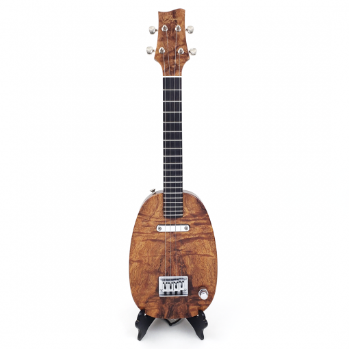 Front view of koa pineapple ukulele