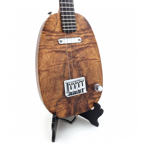 Detail of koa pineapple ukulele