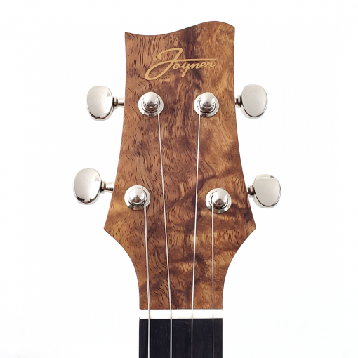 Headstock view of pineapple koa uke
