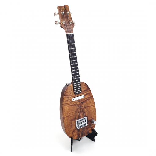 right view koa pineapple ukulele