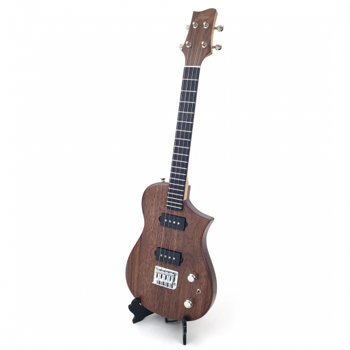 Black Walnut Tenor Ukulele Left