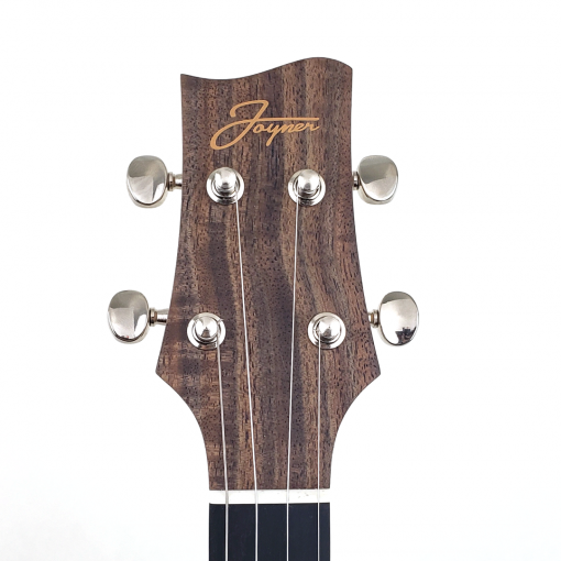 Walnut and Myrtle DC Tenor Headstock